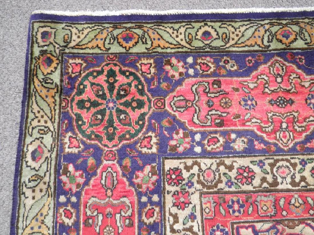 Charming/Colorful Semi Antique Persian Tabriz 12.2x9.7 - 5