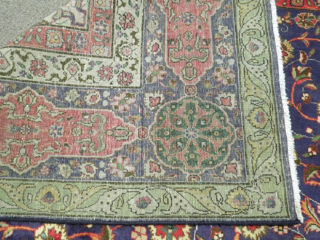 Charming/Colorful Semi Antique Persian Tabriz 12.2x9.7 - 6