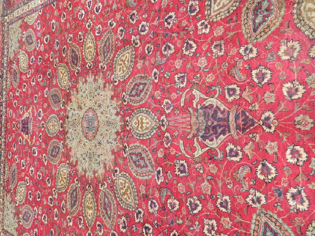 Extremely Gorgeous Semi Antique Persian Tabriz 12.6x9.7 - 3