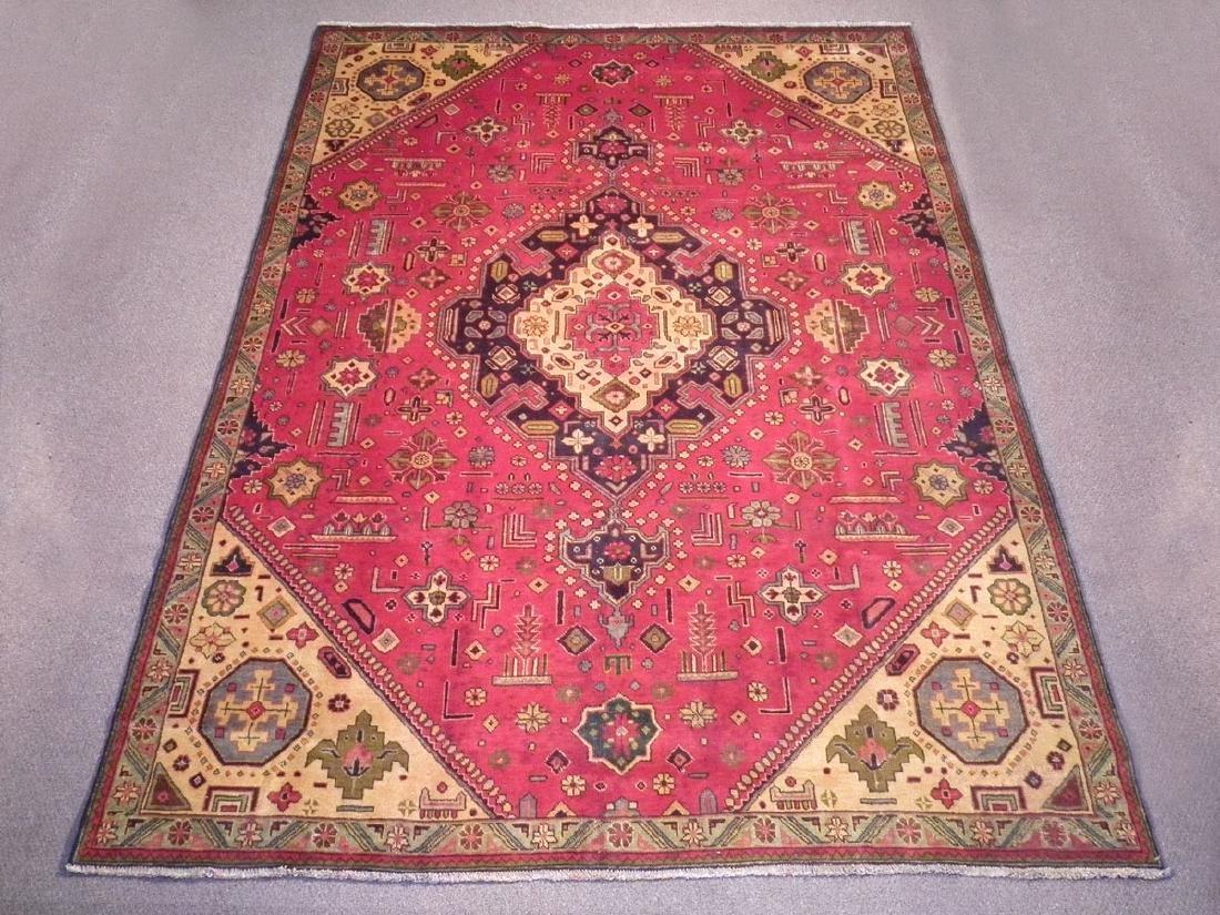 Rare Geometric Semi Antique Persian Tabriz 8.6x10.7