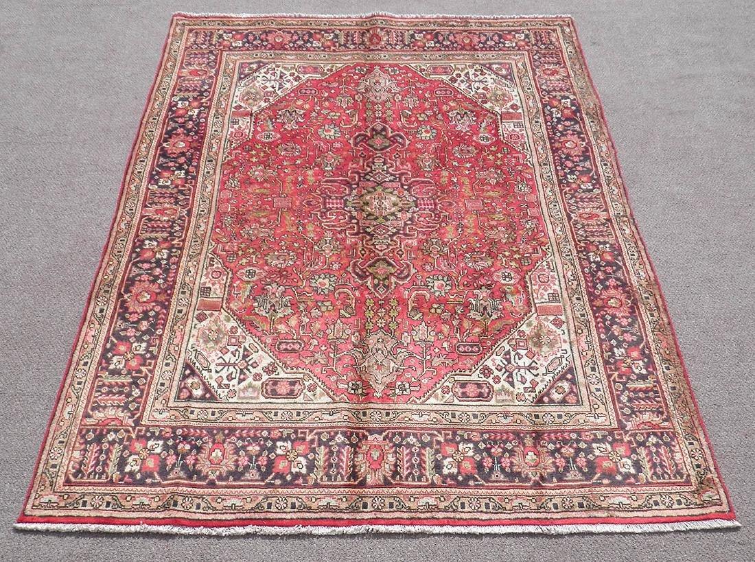 Detailed Semi Antique Persian Tabriz 6.7x9.9