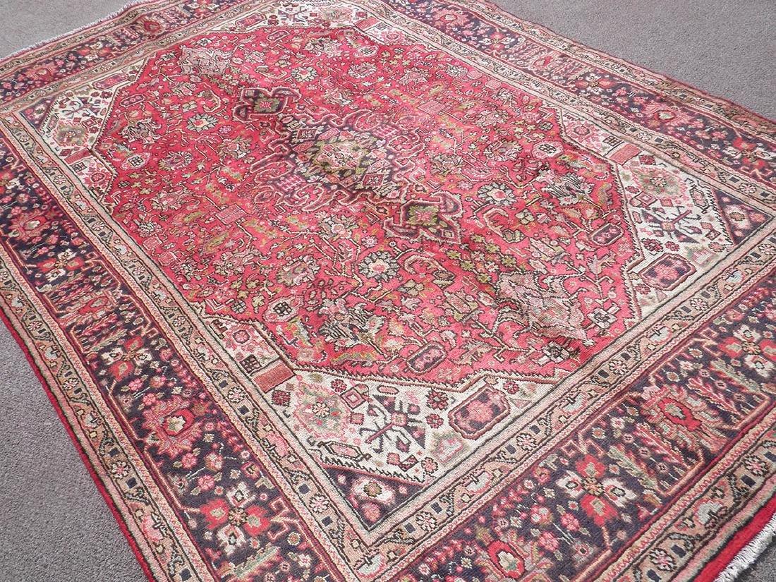 Detailed Semi Antique Persian Tabriz 6.7x9.9 - 2
