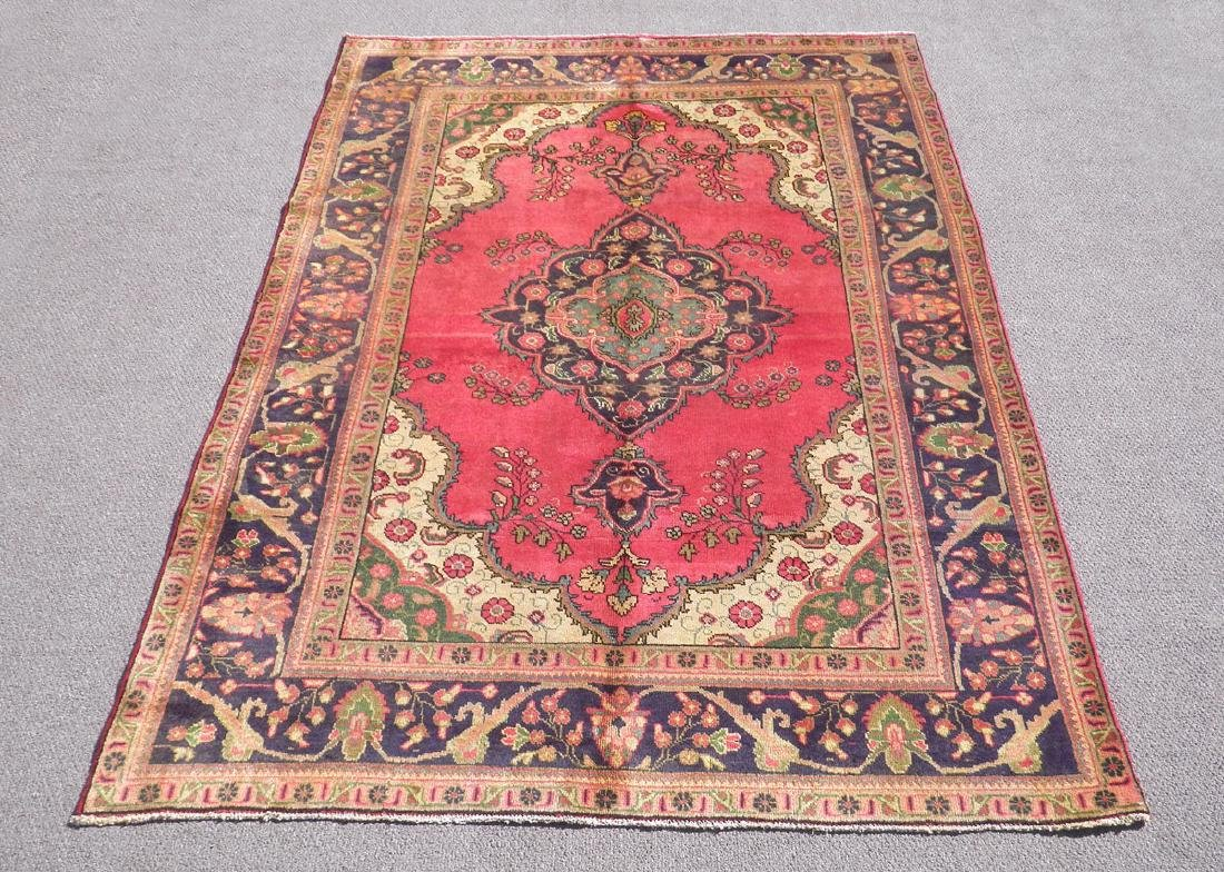 Finely Knotted Semi Antique Persian Tabriz 9.1x6.5