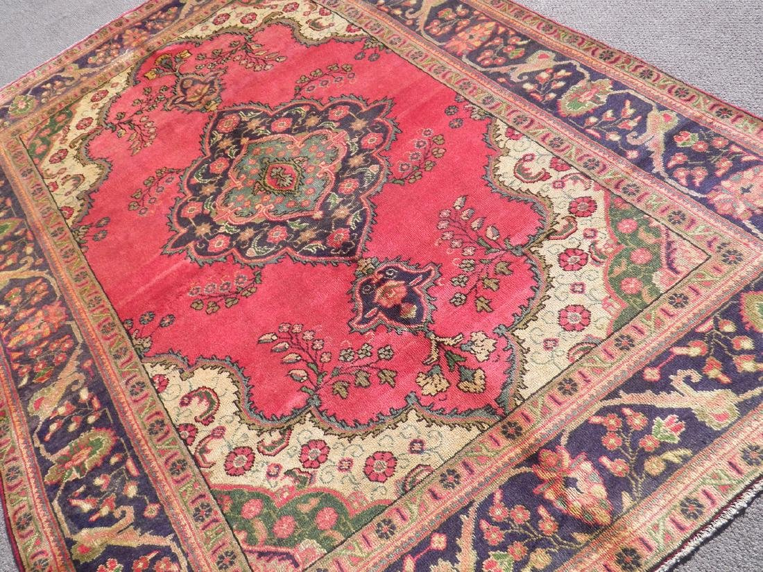 Finely Knotted Semi Antique Persian Tabriz 9.1x6.5 - 2