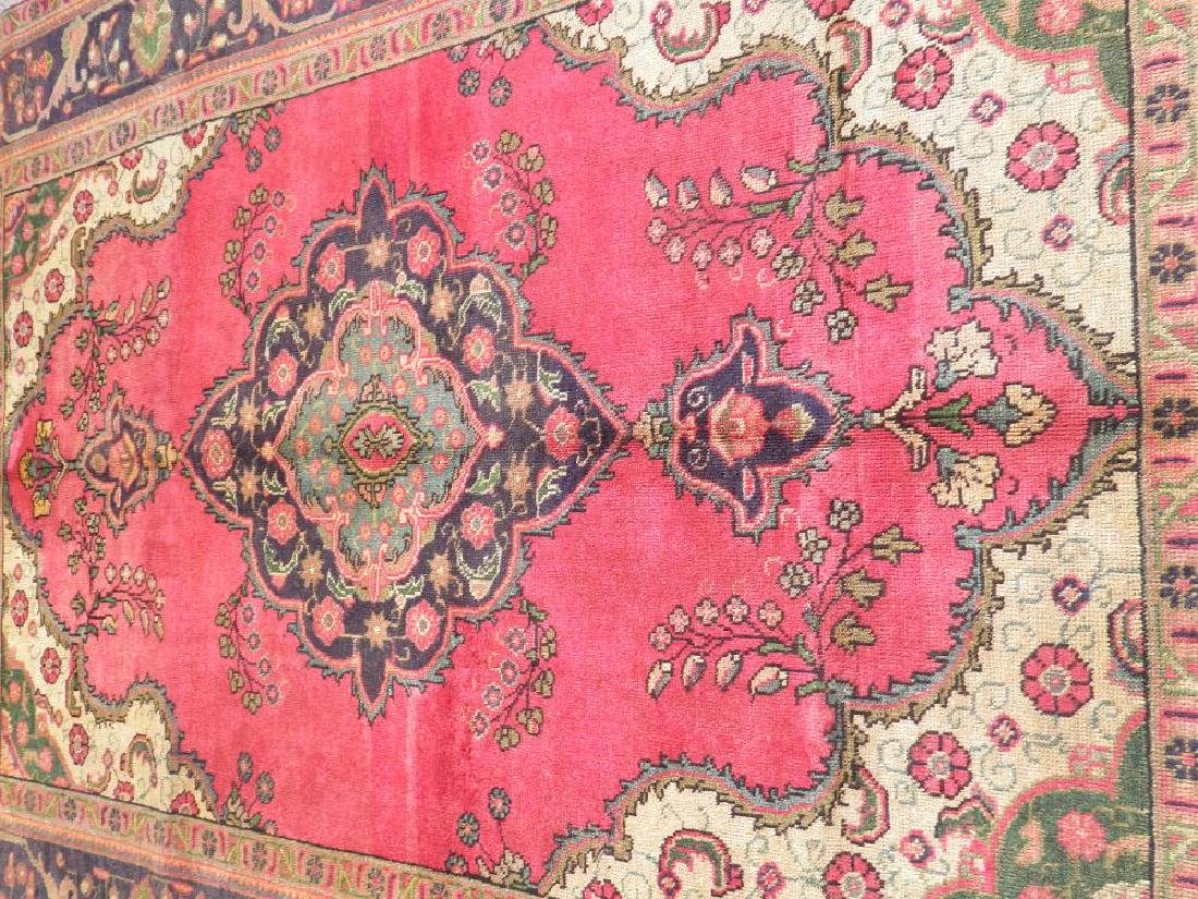 Finely Knotted Semi Antique Persian Tabriz 9.1x6.5 - 3