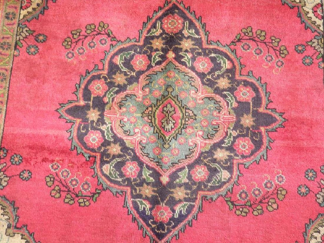 Finely Knotted Semi Antique Persian Tabriz 9.1x6.5 - 4