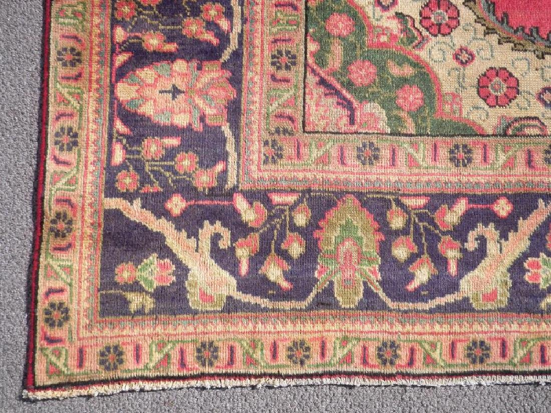 Finely Knotted Semi Antique Persian Tabriz 9.1x6.5 - 5