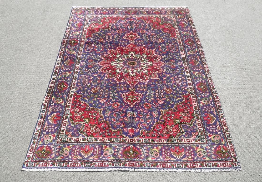 Charming/Colorful Semi Antique Persian Tabriz 10x6.8