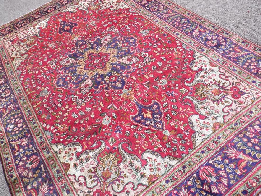Highly Collectible Semi Antique Persian Tabriz 9.7x6.5 - 2