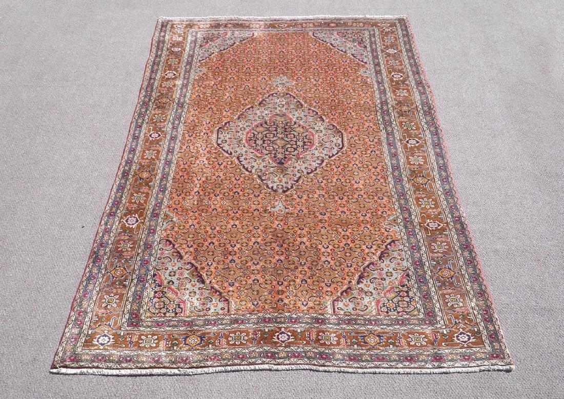 Semi Antique Persian Tabriz Mahi (Fish) Design 9.6x6.3