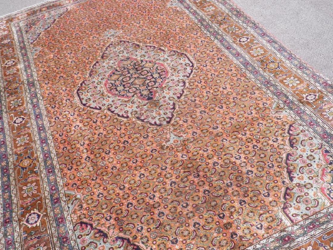 Semi Antique Persian Tabriz Mahi (Fish) Design 9.6x6.3 - 2