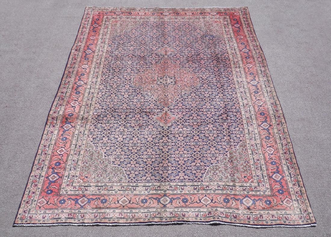 Semi Antique Persian Tabriz Mahi (Fish) Design 10.3x7.5