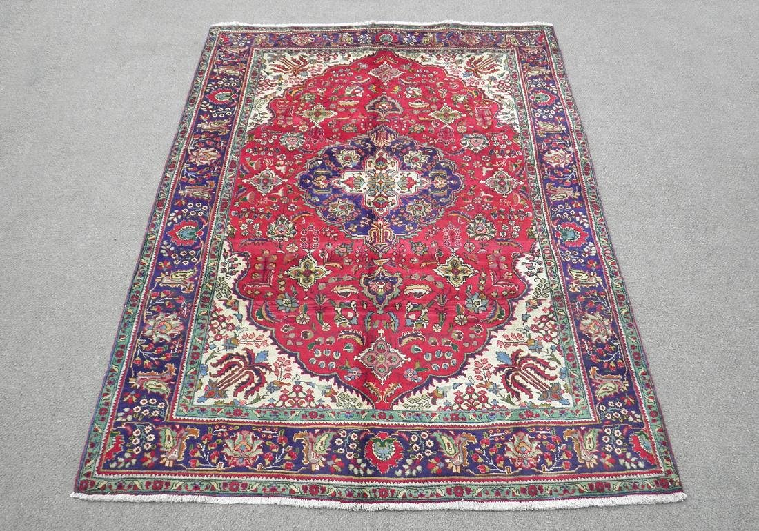 Nicely Contrasted Semi Antique Persian Tabriz 10.5x7.0