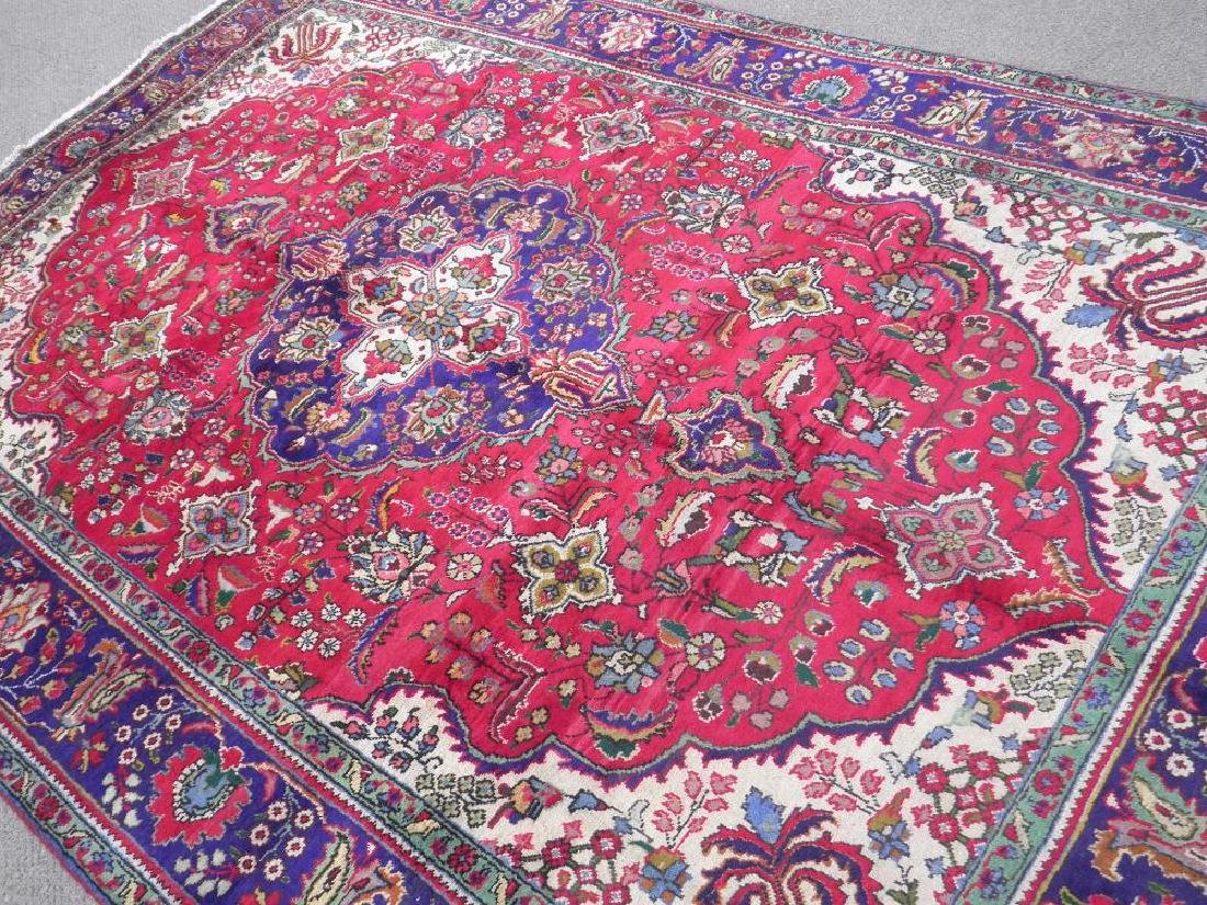 Nicely Contrasted Semi Antique Persian Tabriz 10.5x7.0 - 2