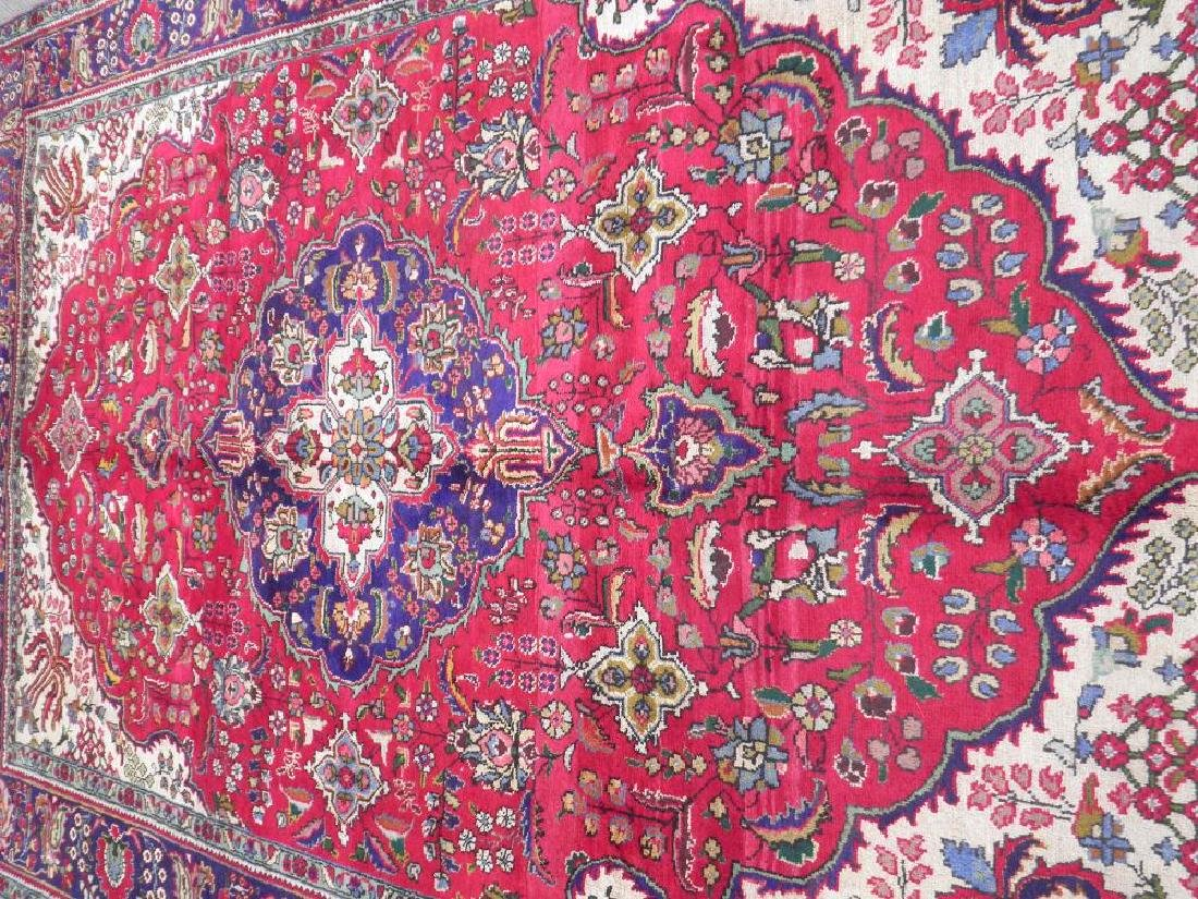 Nicely Contrasted Semi Antique Persian Tabriz 10.5x7.0 - 3