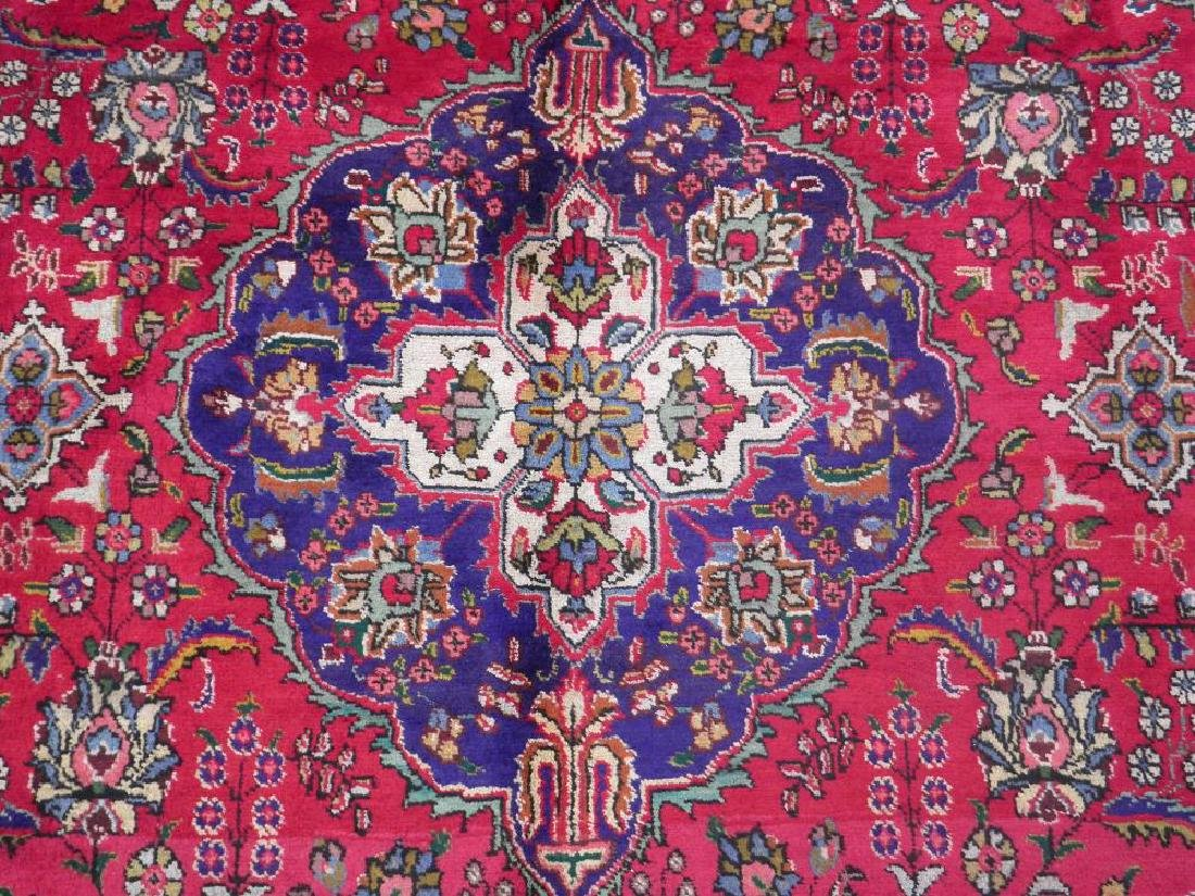 Nicely Contrasted Semi Antique Persian Tabriz 10.5x7.0 - 4