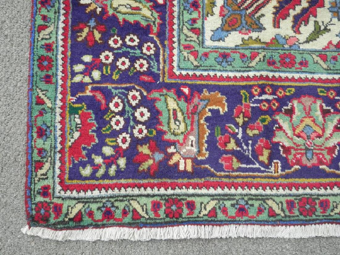 Nicely Contrasted Semi Antique Persian Tabriz 10.5x7.0 - 5