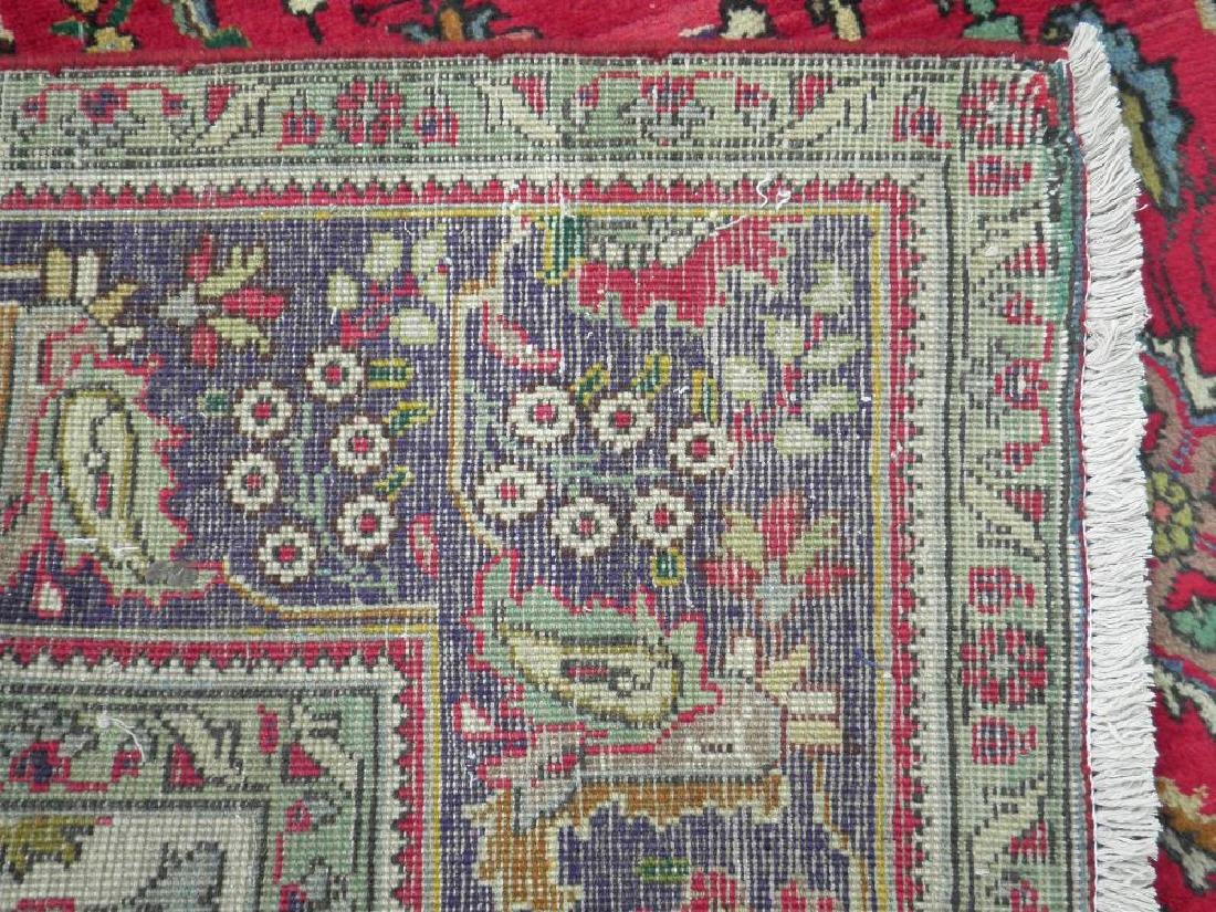 Nicely Contrasted Semi Antique Persian Tabriz 10.5x7.0 - 6