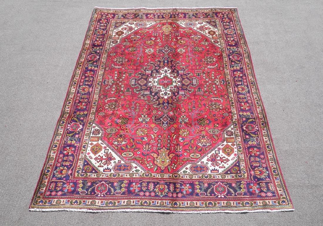 Simply Breathtaking Semi Antique Persian Tabriz 9.8x6.6