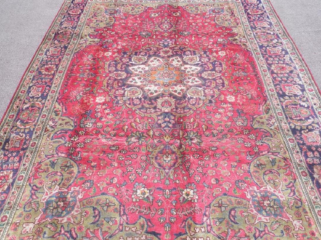 Strikingly Beautiful Semi Antique Persian Tabriz - 3