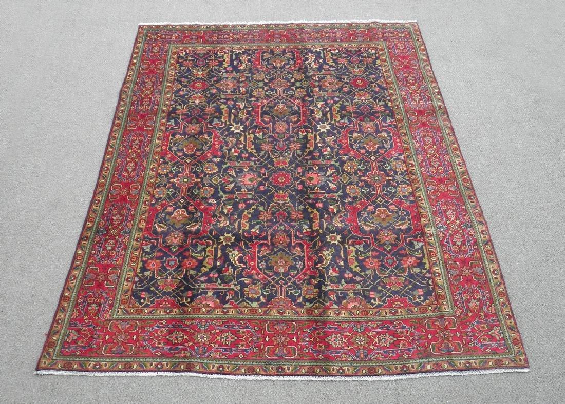 Semi Antique Allover Floral Persian Tabriz 9.4x6.4
