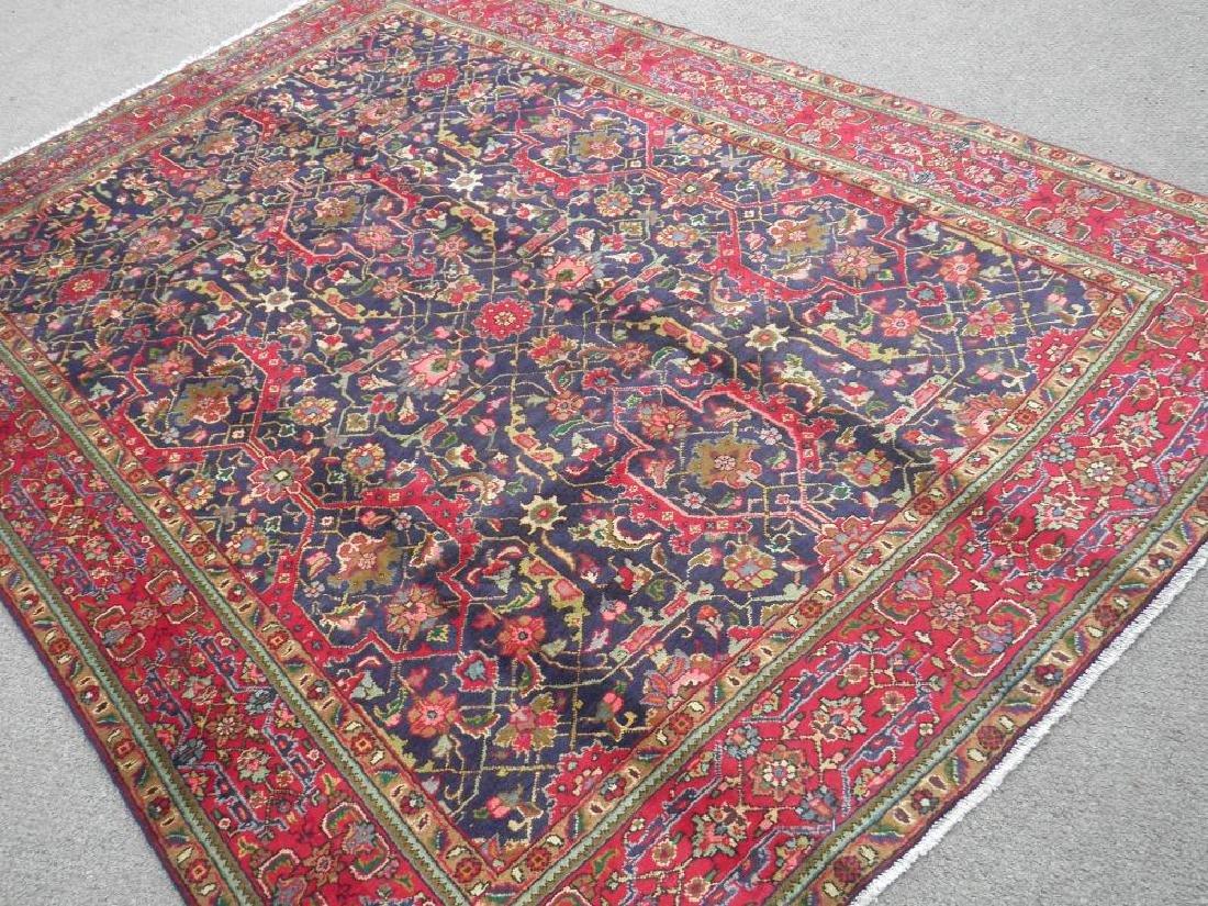 Semi Antique Allover Floral Persian Tabriz 9.4x6.4 - 2