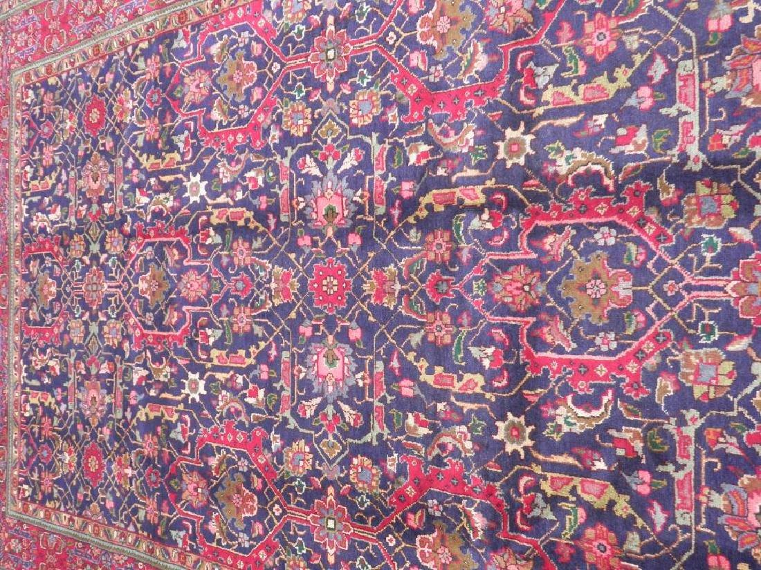 Semi Antique Allover Floral Persian Tabriz 9.4x6.4 - 3