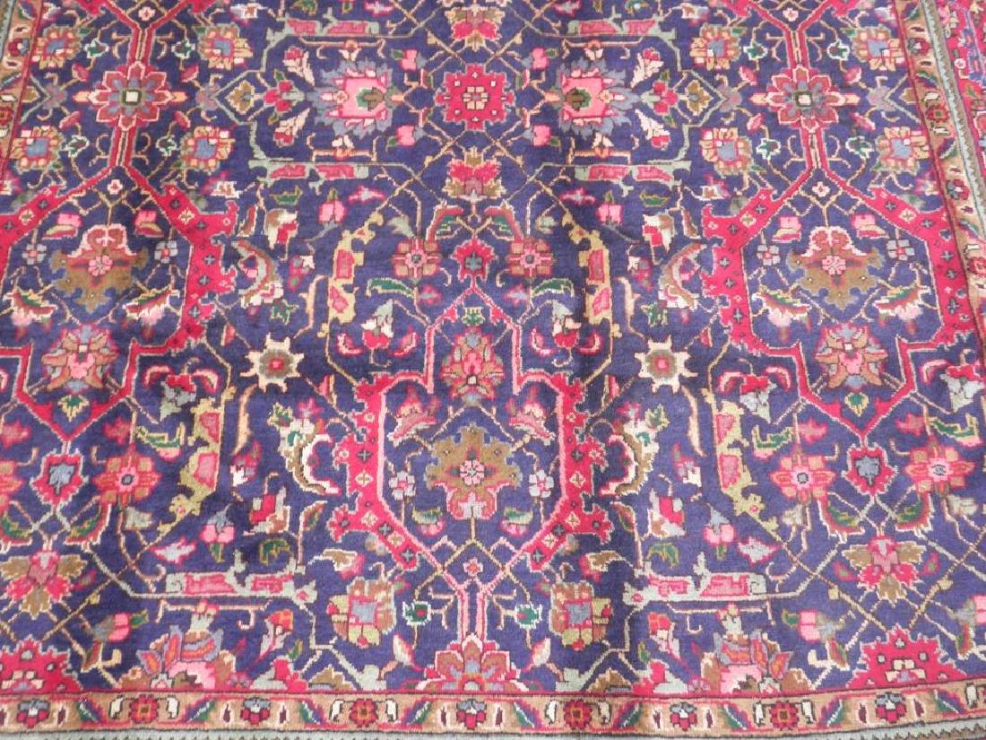Semi Antique Allover Floral Persian Tabriz 9.4x6.4 - 4