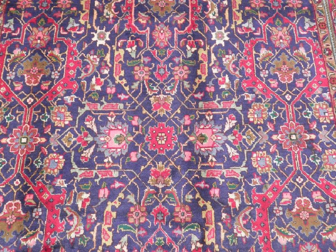 Semi Antique Allover Floral Persian Tabriz 9.4x6.4 - 5