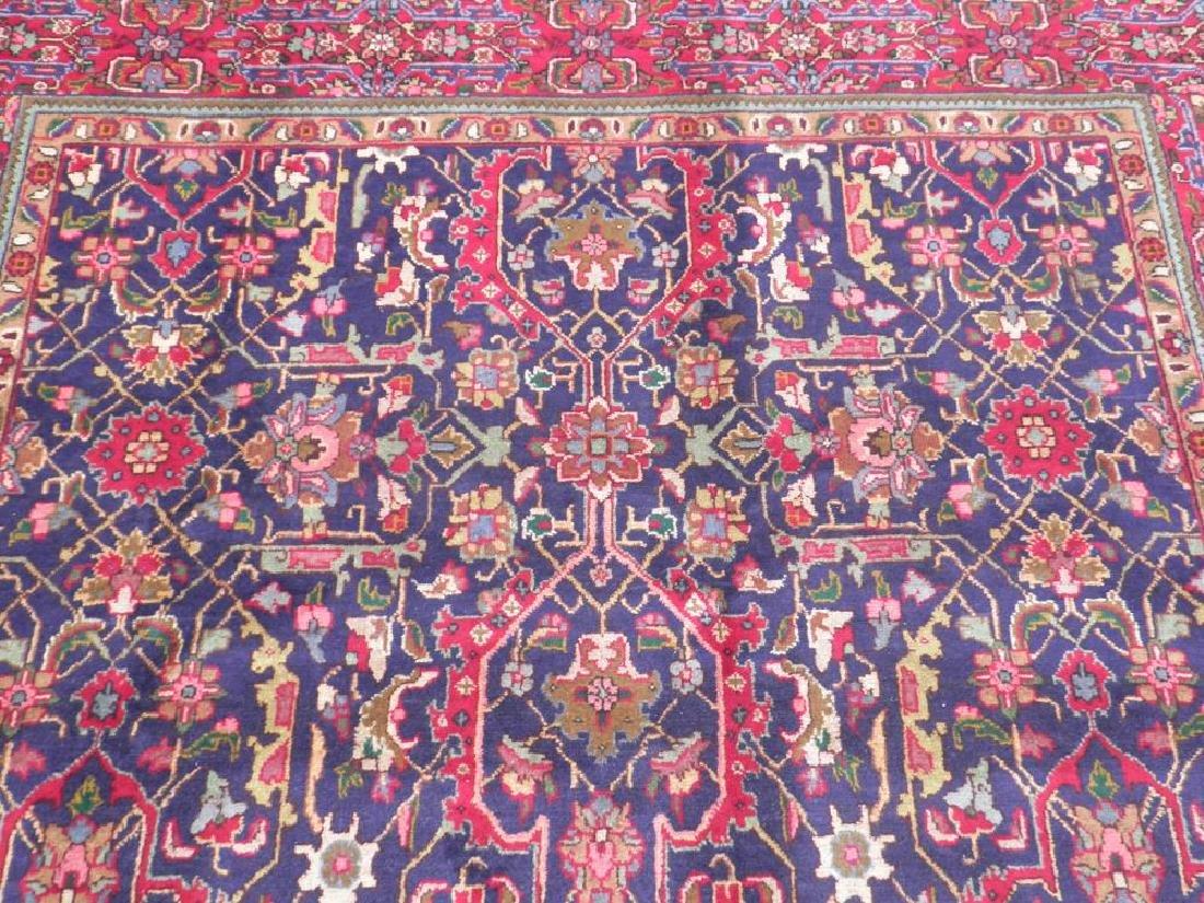 Semi Antique Allover Floral Persian Tabriz 9.4x6.4 - 6