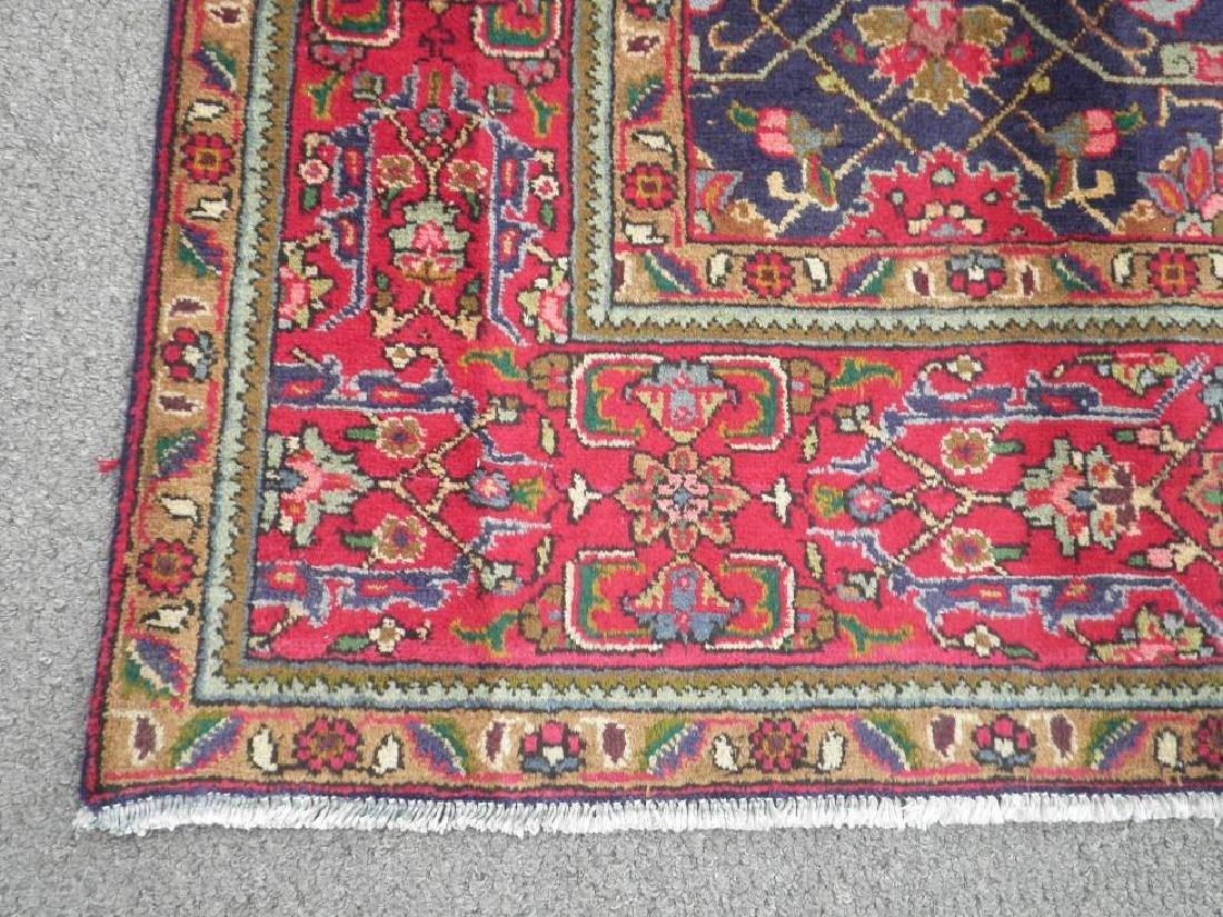 Semi Antique Allover Floral Persian Tabriz 9.4x6.4 - 7