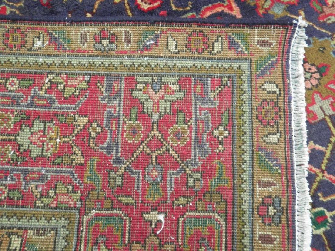 Semi Antique Allover Floral Persian Tabriz 9.4x6.4 - 8