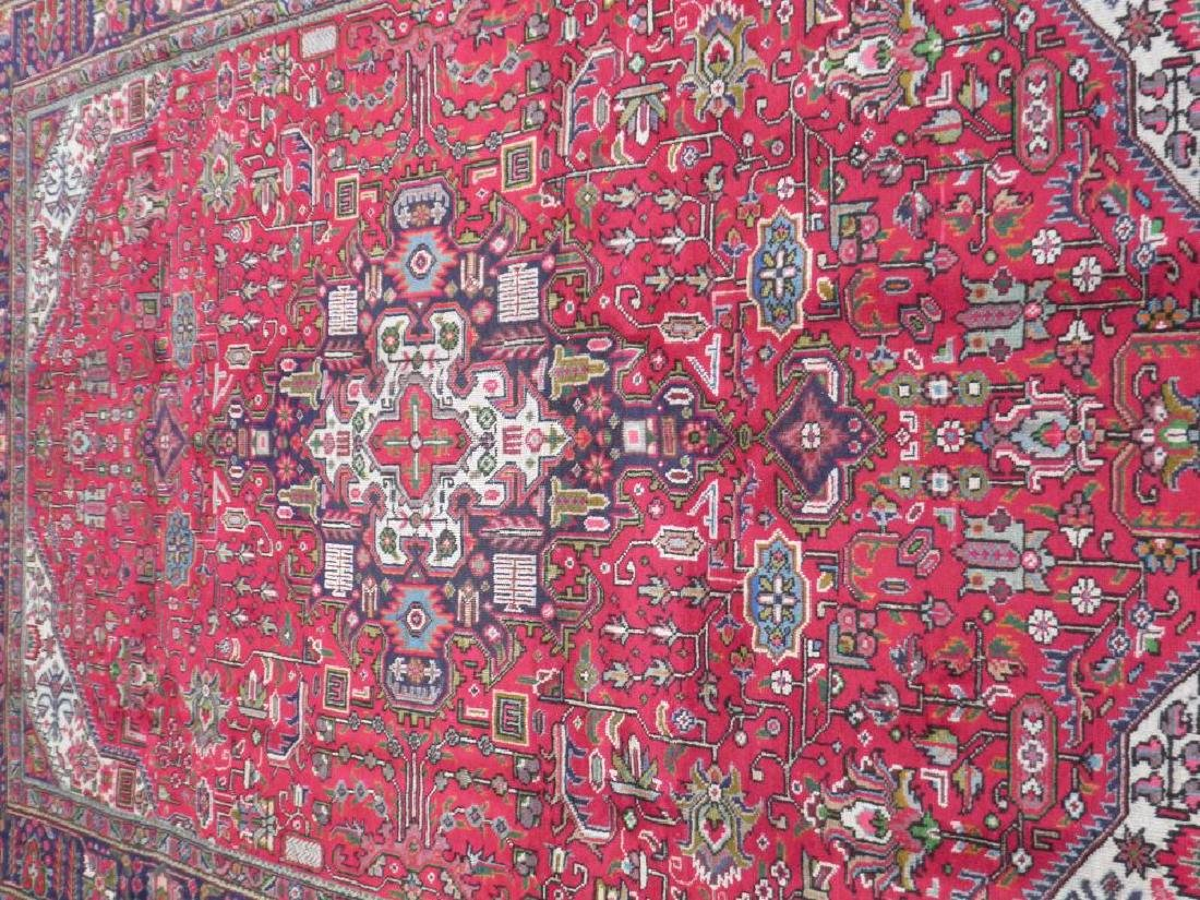 Superb Detailed Semi Antique Persian Tabriz 9.5x6.4 - 3