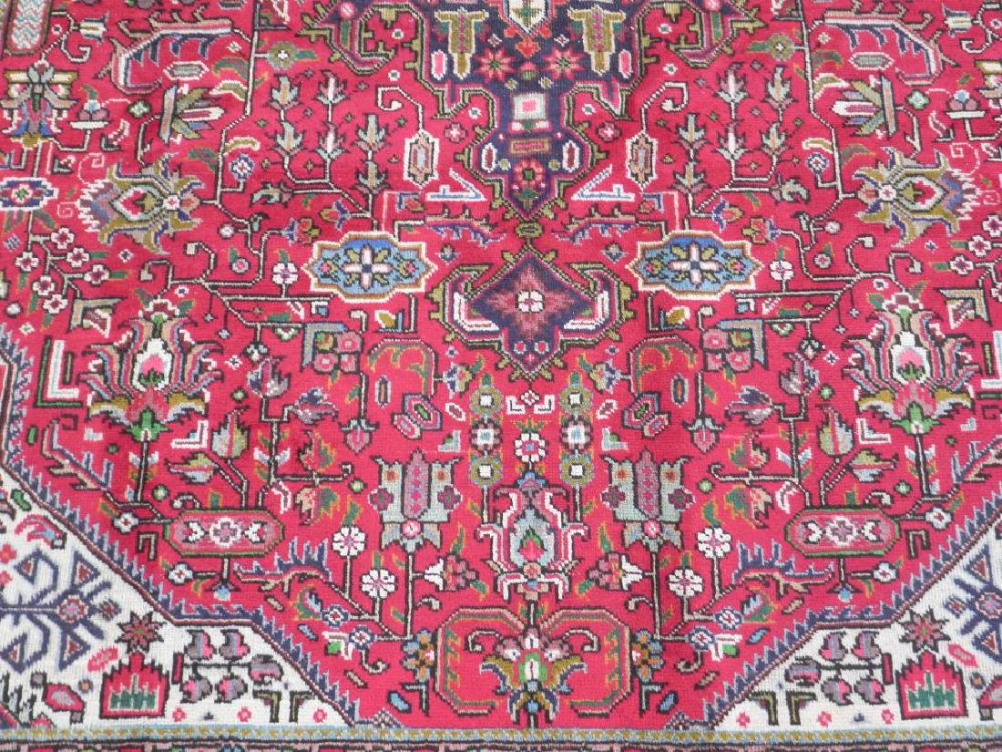 Superb Detailed Semi Antique Persian Tabriz 9.5x6.4 - 4