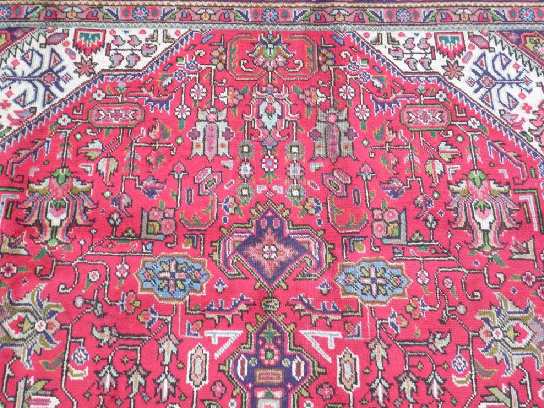 Superb Detailed Semi Antique Persian Tabriz 9.5x6.4 - 6
