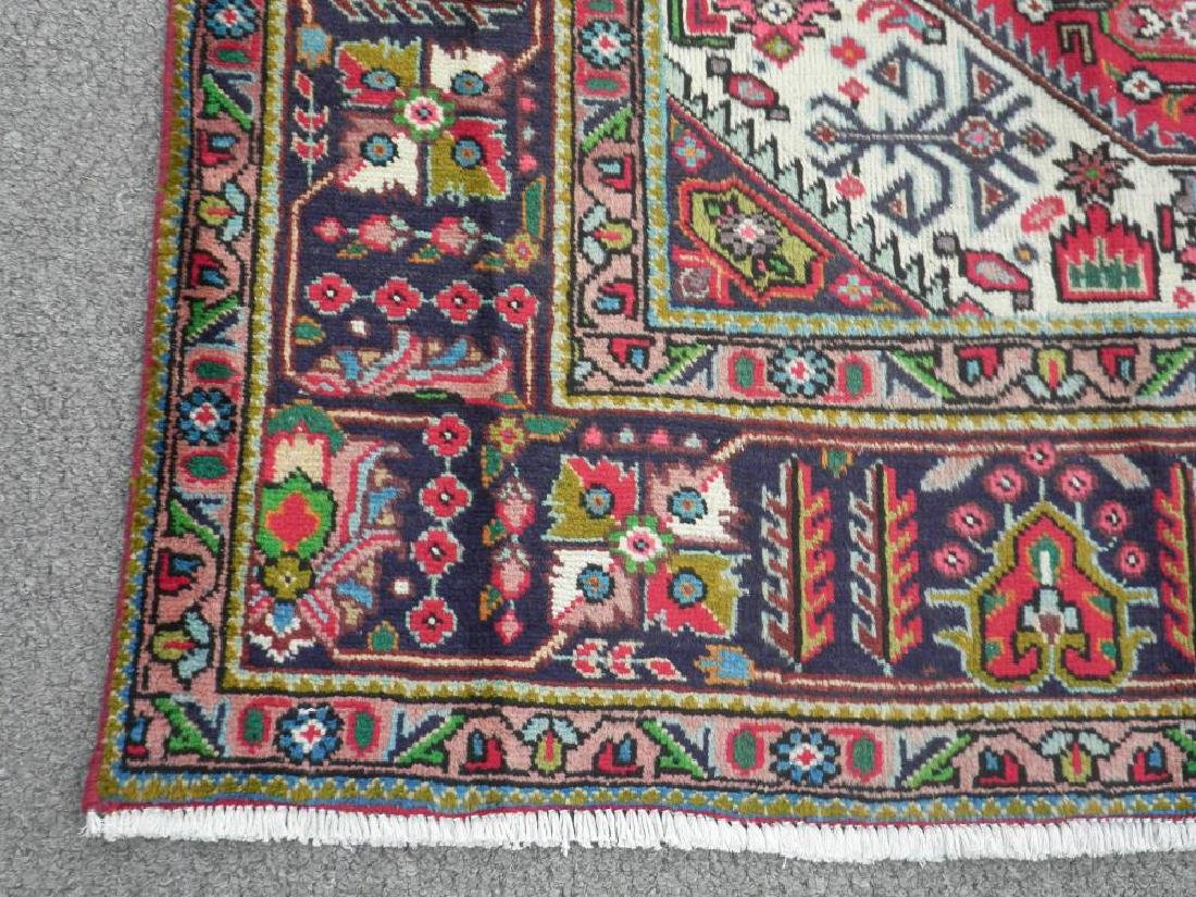 Superb Detailed Semi Antique Persian Tabriz 9.5x6.4 - 7