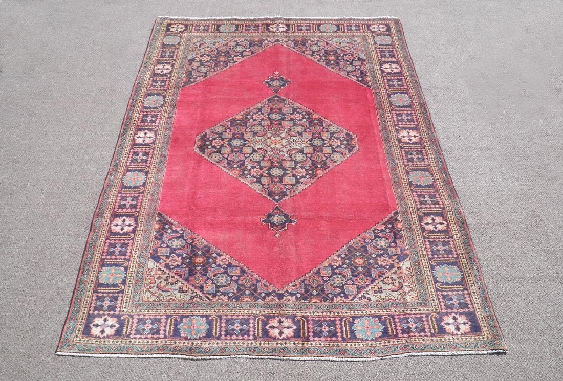 Fascinating Antique Open Field Persian Tabriz 9.7x6.6