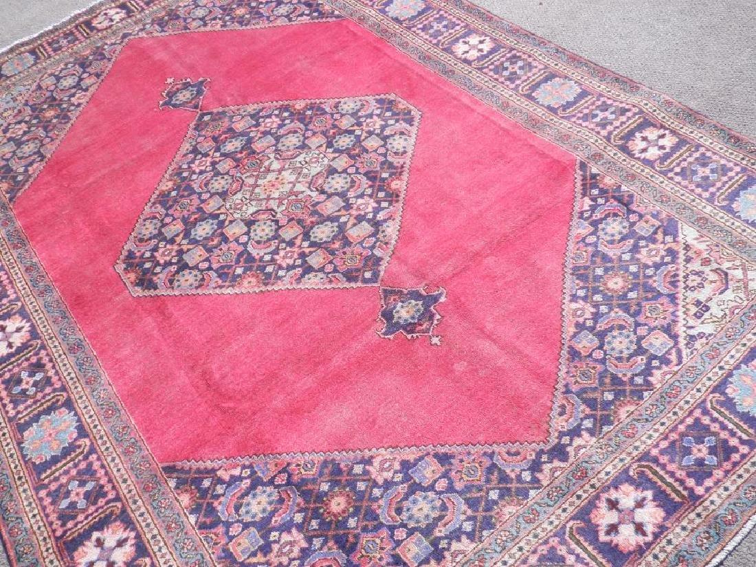 Fascinating Antique Open Field Persian Tabriz 9.7x6.6 - 2