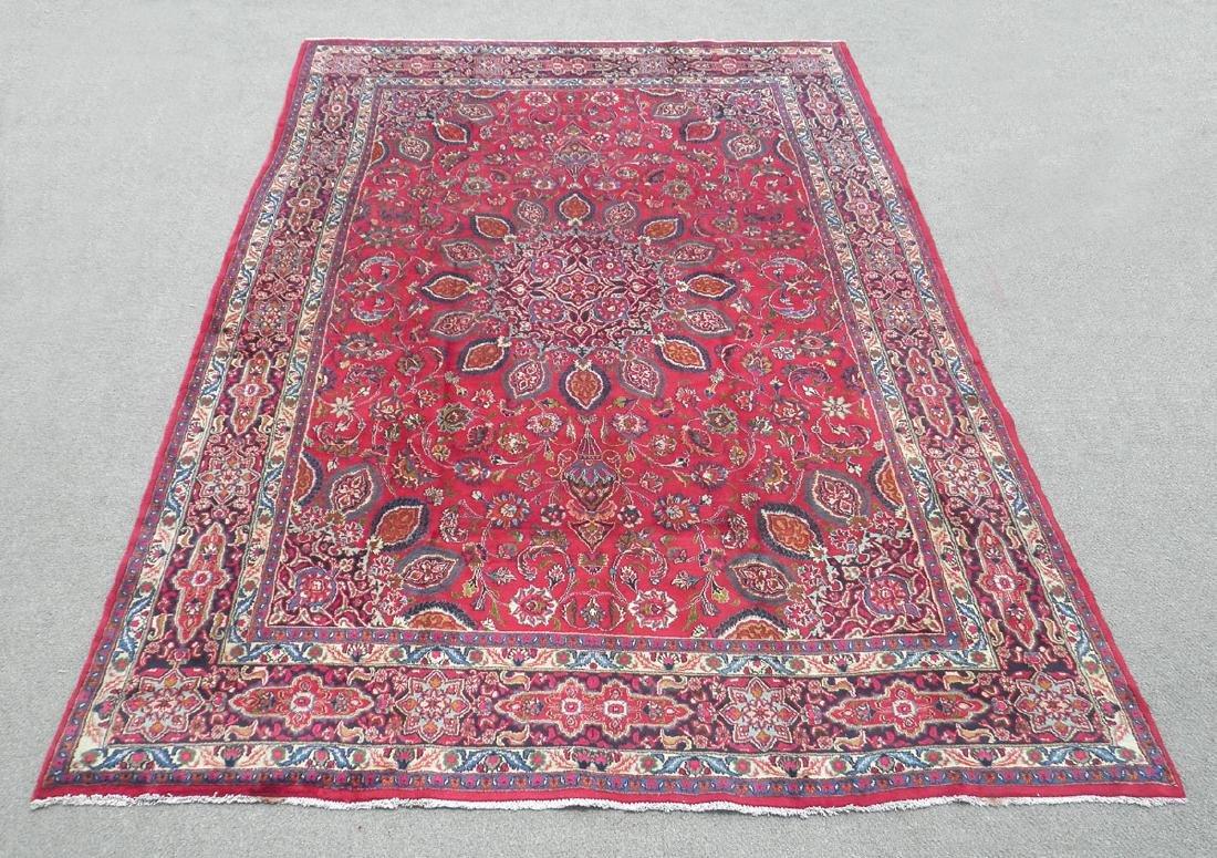 Gorgeous Semi Antique Persian Mashhad 13.2x9.4