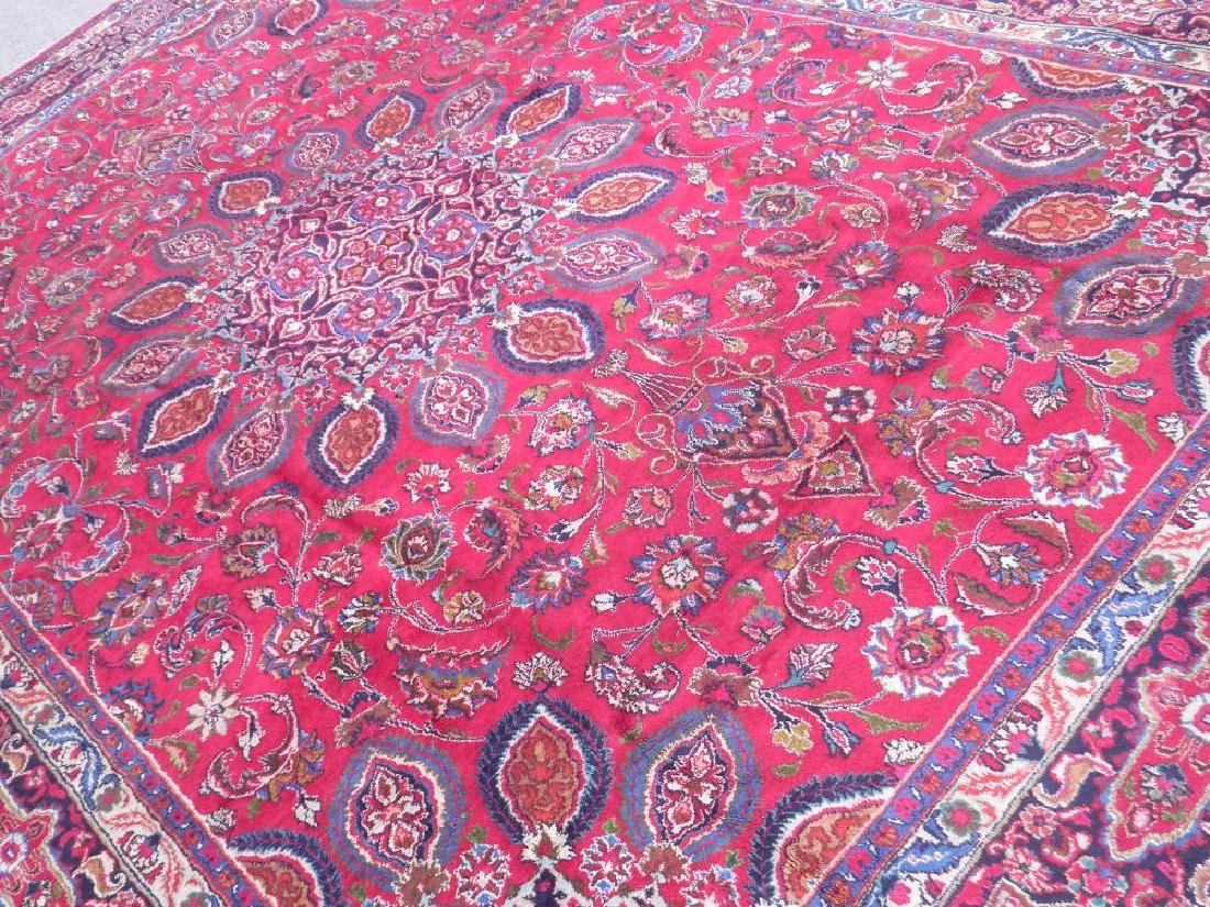 Gorgeous Semi Antique Persian Mashhad 13.2x9.4 - 2
