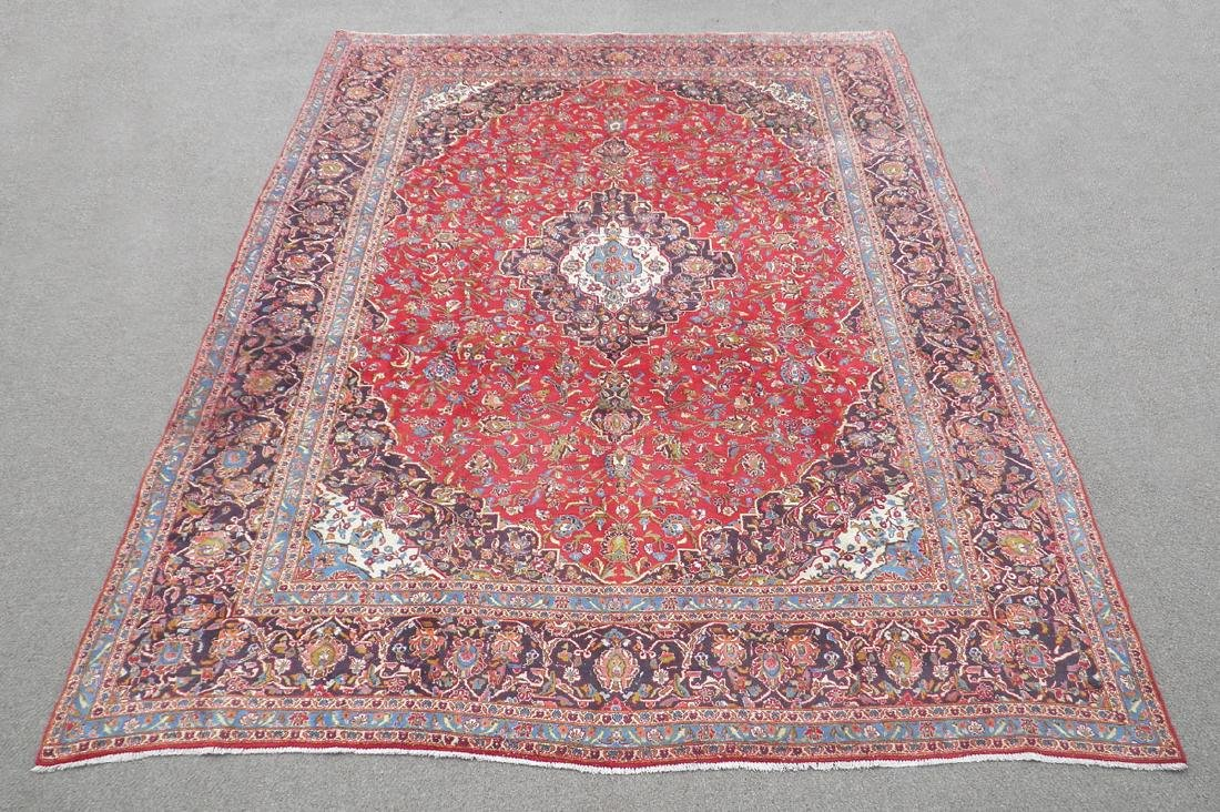 Large Room Size Semi Antique Persian Kashan 13.1x9.7