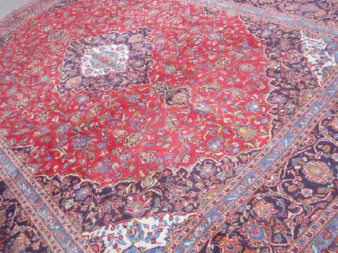 Large Room Size Semi Antique Persian Kashan 13.1x9.7 - 2