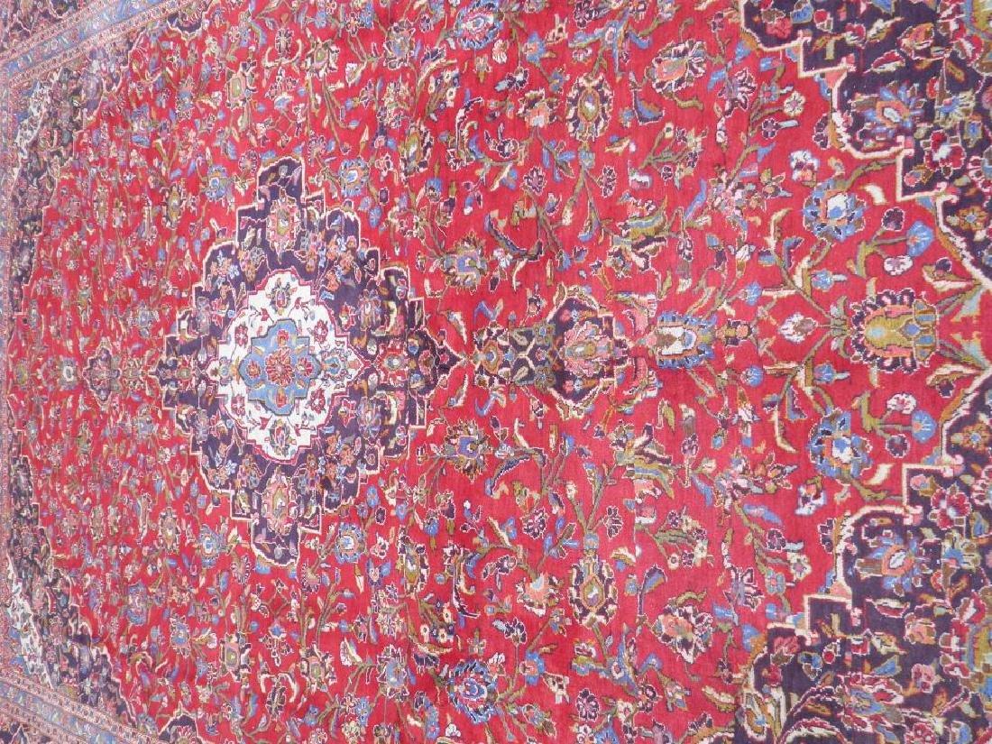 Large Room Size Semi Antique Persian Kashan 13.1x9.7 - 3