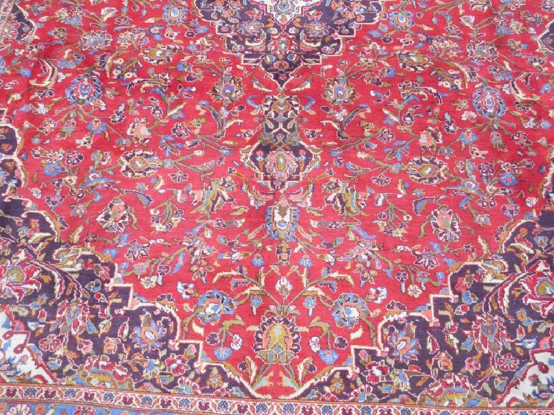 Large Room Size Semi Antique Persian Kashan 13.1x9.7 - 4