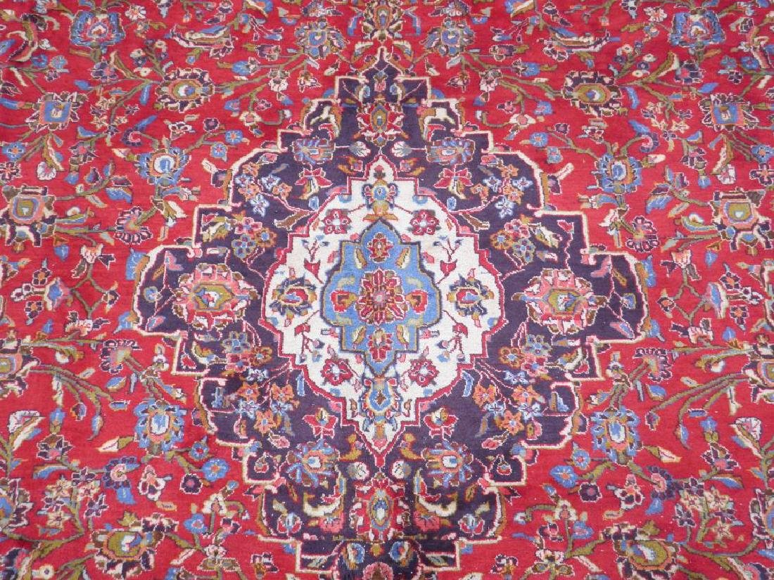 Large Room Size Semi Antique Persian Kashan 13.1x9.7 - 5
