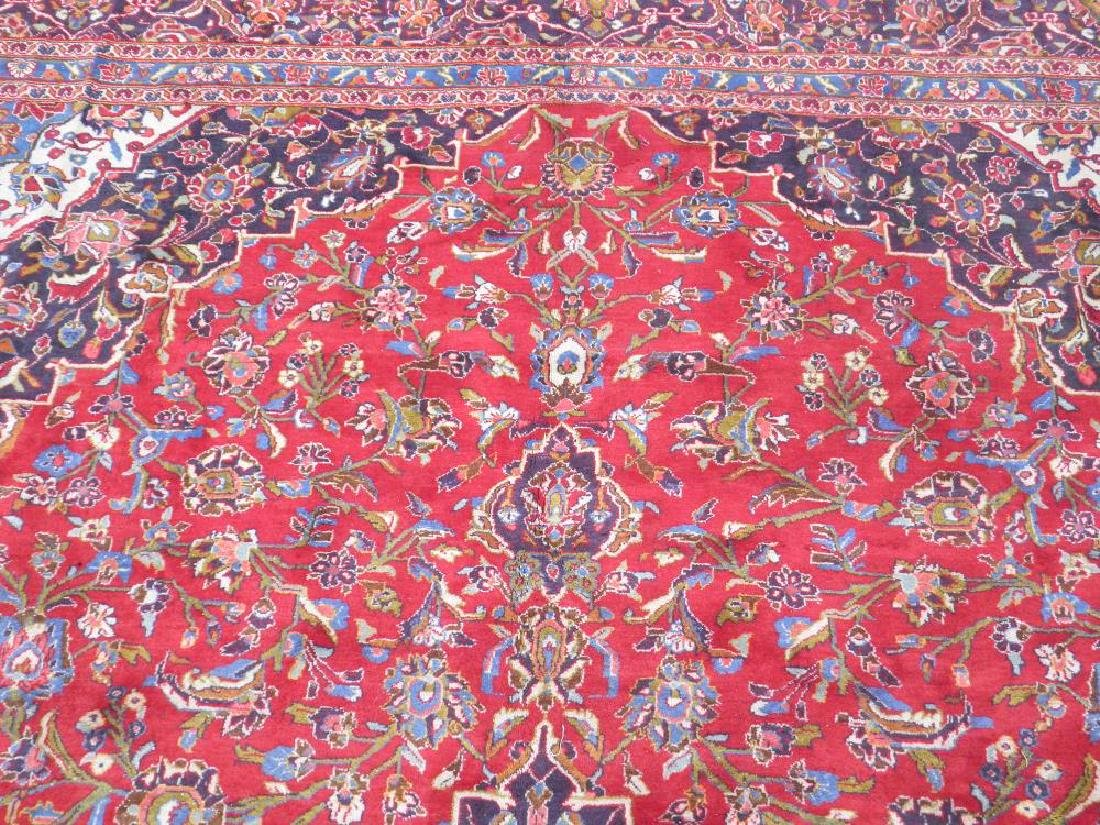 Large Room Size Semi Antique Persian Kashan 13.1x9.7 - 6
