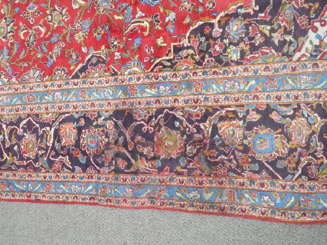 Large Room Size Semi Antique Persian Kashan 13.1x9.7 - 9