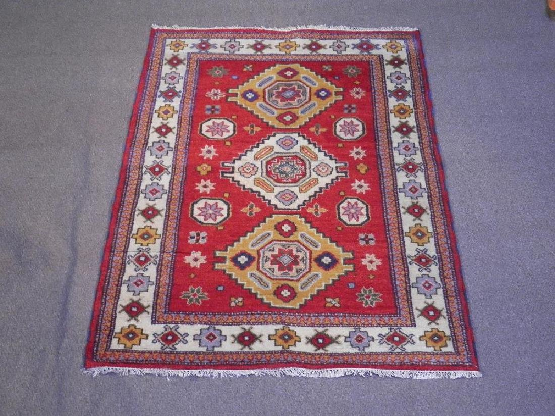 Simply Beautiful Handmade Kazak Design 4.9x6.5