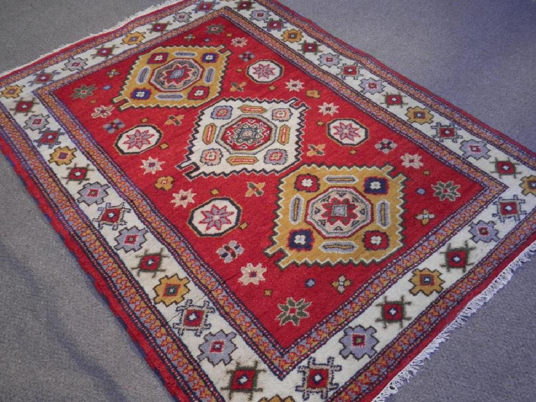 Simply Beautiful Handmade Kazak Design 4.9x6.5 - 2