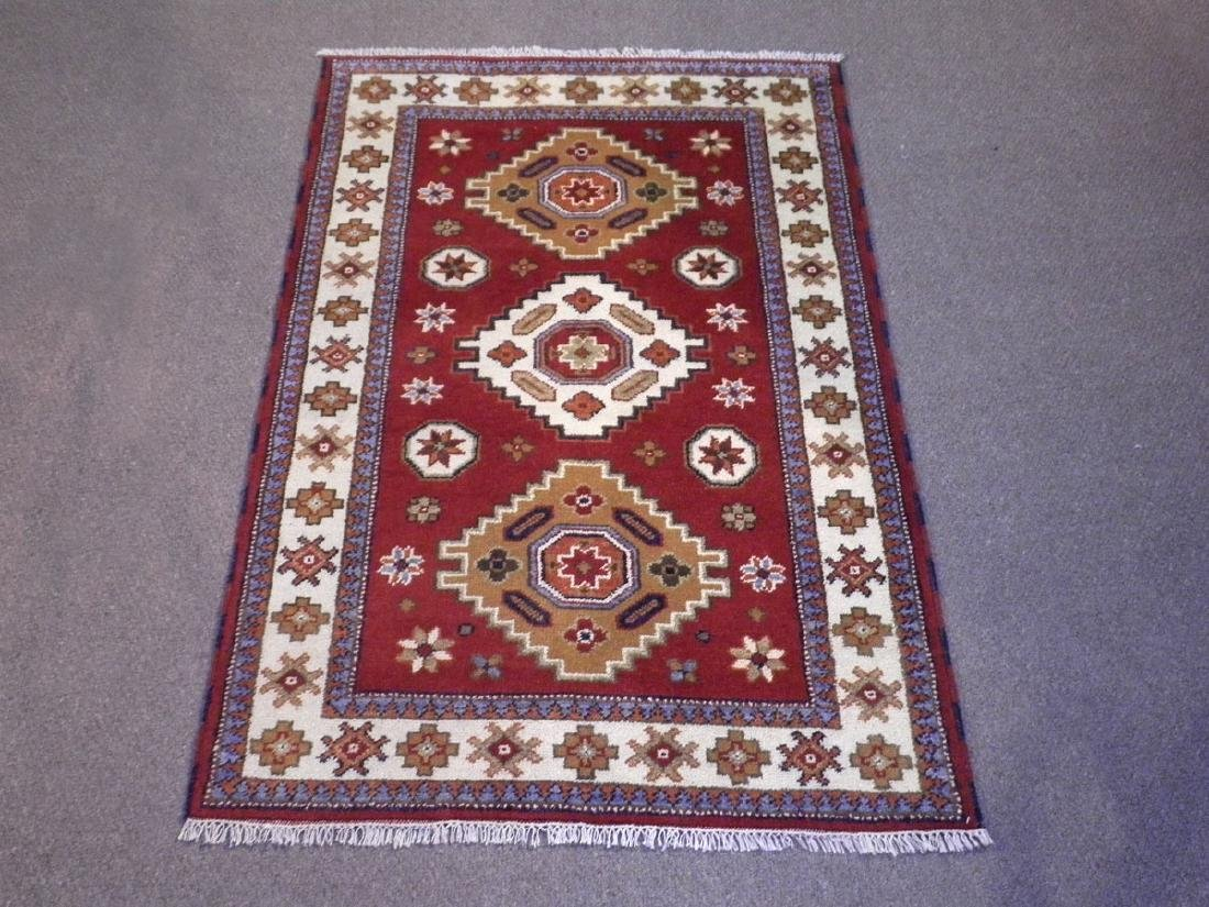 Collectible Handmade Kazak Design 3.11x5.11